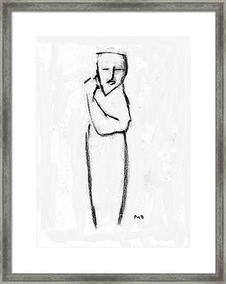 Framed Print featuring the drawing Figure by Michael Dohnalek