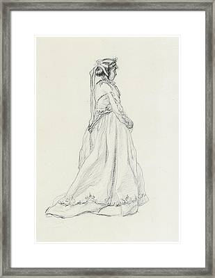 Figure Of A Woman Framed Print