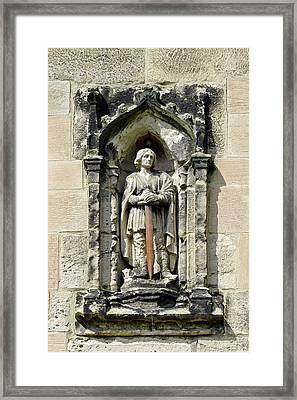 Figure Of St Wystan Above Porch Door Framed Print