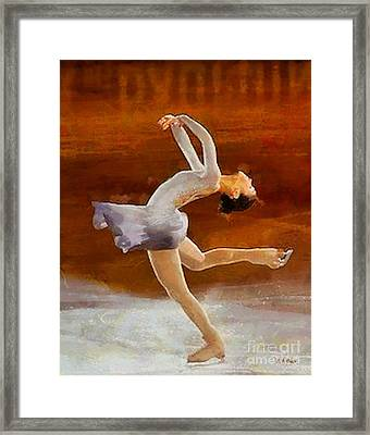 Figure Skating Framed Print by Elizabeth Coats