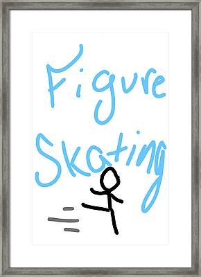 Figure Skating Framed Print by Jada Johnson