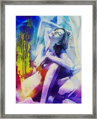Figure Work Framed Print