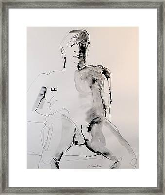 Figure11 Male Nude Study Framed Print by Craig  Bruce