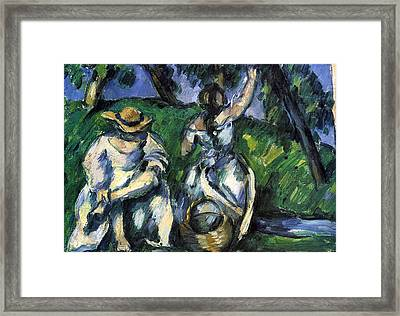Figures By Cezanne Framed Print by John Peter