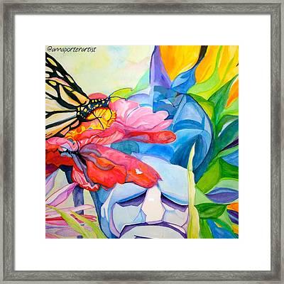 Fiji Dreams - Original Watercolor Painting Framed Print