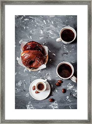Fika Time - Chocolate And Coffee Framed Print by Copyrighted To Asha Pagdiwalla