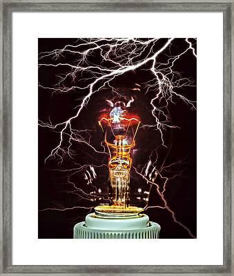 Filament Framed Print by Daniel Hagerman