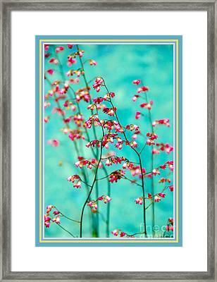 Filigree In A Frame Framed Print