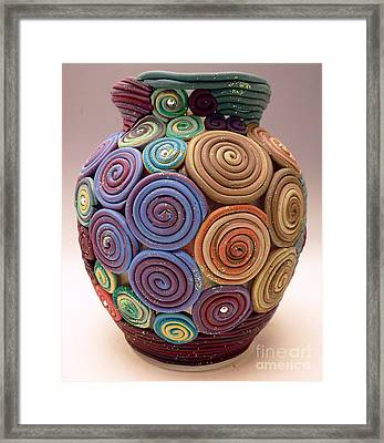 Filigree Vase Framed Print by Alene Sirott-Cope