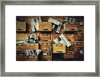 Filing System Framed Print by Caitlyn  Grasso
