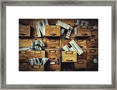 Filing System Framed Print