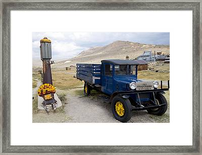 Fill 'er Up In Bodie Framed Print by Jim Snyder
