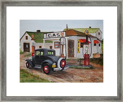 Fill Er Up Framed Print by Jack G  Brauer