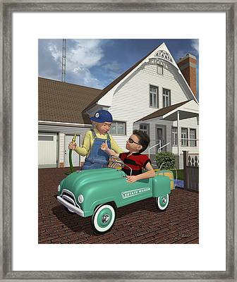 Fill Er Up Mister? Framed Print