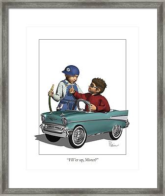 Fill Er Up Framed Print