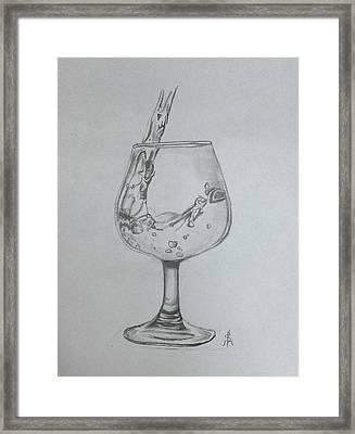 Fill My Glass Framed Print