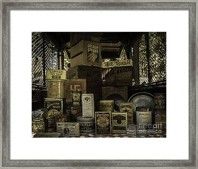 Fill The Pantry Framed Print by Mitch Shindelbower