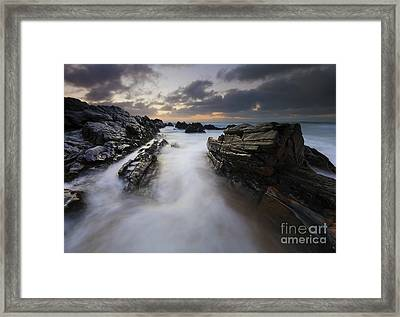 Filled By The Tides Framed Print by Mike Dawson