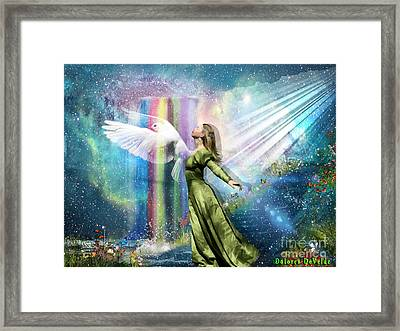 Filled With The Spirit  Framed Print by Dolores Develde