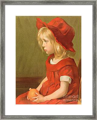 Fillette A Lorange Framed Print by Marie Louise Catherine Breslau