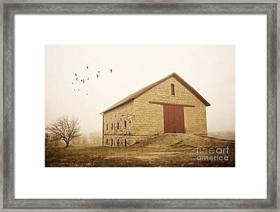 Filley Stone Barn 1 Framed Print