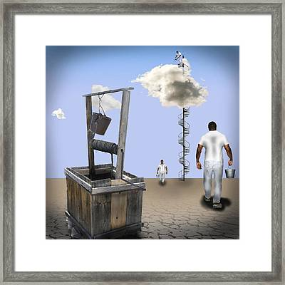 Filling Station Framed Print