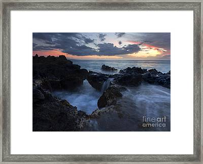 Filling The Cauldron Framed Print by Mike  Dawson