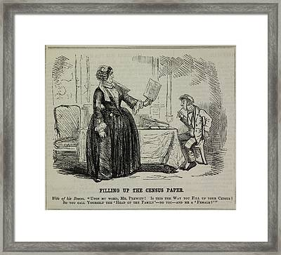 Filling Up The Census Paper Framed Print by British Library