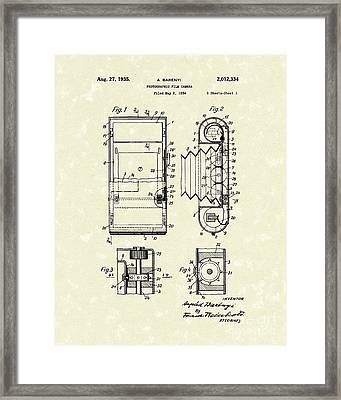 Film Camera 1935 Patent Art Framed Print