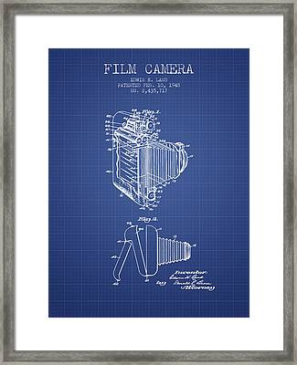 Film Camera Patent From 1948 - Blueprint Framed Print by Aged Pixel