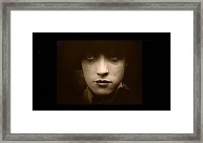 Film Homage Billy Bitzer Miriam Cooper Intolerance 1916 Screen Capture Color Added 2012 Framed Print by David Lee Guss