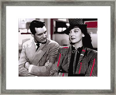 Film Homage Cary Grant Rosalind Russell Howard Hawks His Girl Friday 1940-2008 Framed Print