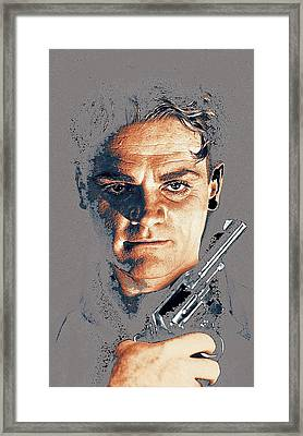 Film Homage Close-up James Cagney Angels With Dirty Faces 1939-2014 Framed Print by David Lee Guss