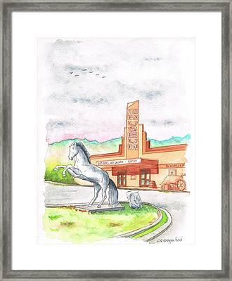 Film Museum In Lone Pine, California Framed Print by Carlos G Groppa
