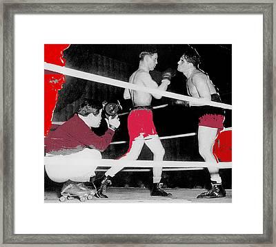 Film Noir Cinematographer James Wong Howe John Garfield Body And Soul 1947 Color Added 2013 Framed Print