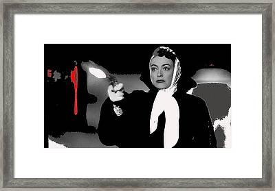 Film Noir Joan Crawford Jack Palance Sudden Fear 1952 Rko Publicity Photo Color Added 2012 Framed Print