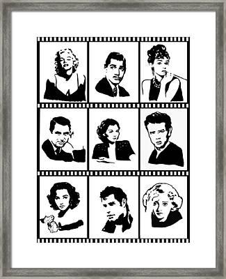 Film Strips Framed Print by Hristina Tarpanova