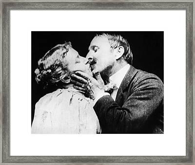 Film The Kiss, 1896 Framed Print by Granger