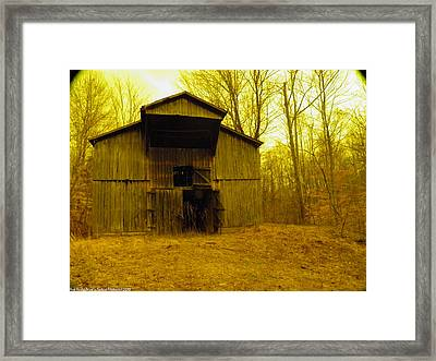 Framed Print featuring the photograph Filtered Barn by Nick Kirby