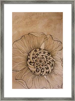 Filtered Flower Framed Print by Lori Thompson
