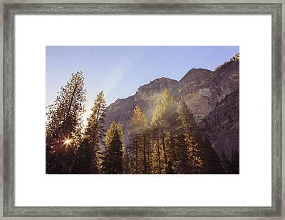 Morning Skies Of Yosemite Framed Print