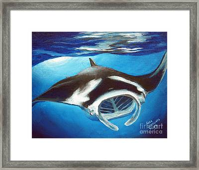 Filtering For Food Framed Print by Lisa Pope