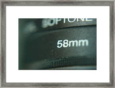 Filters Framed Print