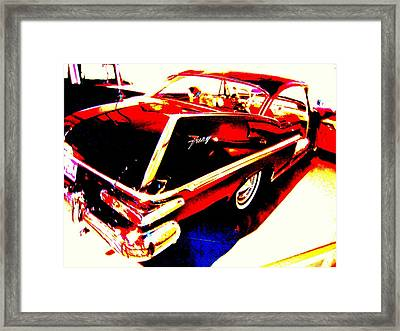 Framed Print featuring the photograph Fin Of Fury In A Plymouth Fashion by Don Struke