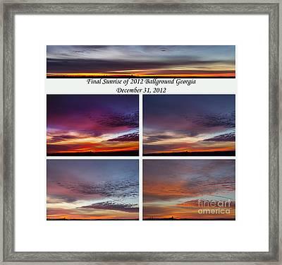 Final 2012 Sunrise Combo Framed Print