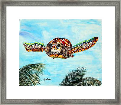 Final Approach Framed Print by Maria Barry