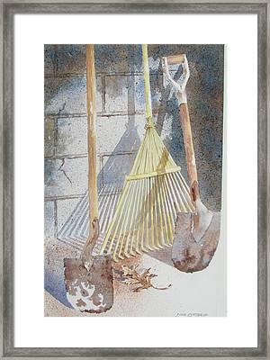 Final Curtain Framed Print