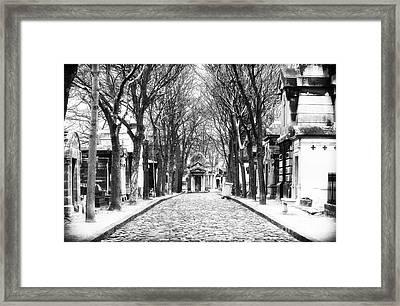 Final Destination In Paris Framed Print