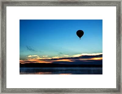 Final Flight - Hot Air Balloon Ride Framed Print by Gary Smith
