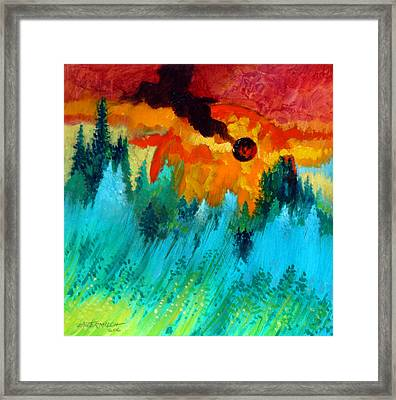 Final Sunset Framed Print by  John Lautermilch